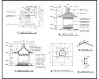 福建中国式凉亭施工详图