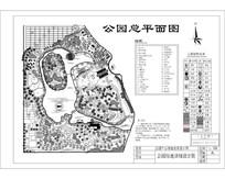 公园中心绿地景观设计图 dwg