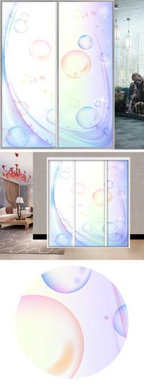 梦幻气泡衣柜移门图片背景