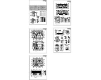 民居式联排别墅施工图