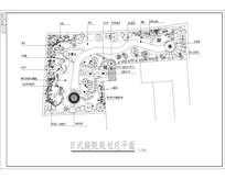 日式庭院规划总平面