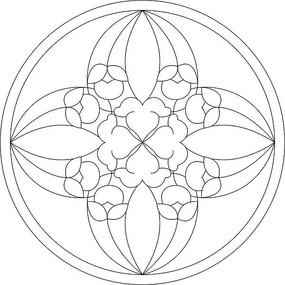 圆形图案雕刻 CDR