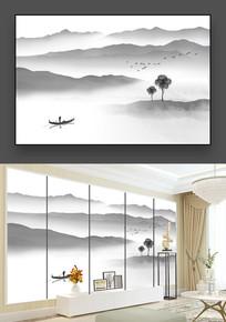 中国风禅意山水画
