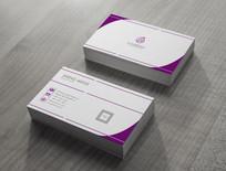 紫色高级名片