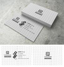 白色花纹个性创意商务名片
