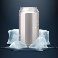 冰镇清凉饮料标签效果图