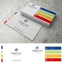 彩色条状科技公司名片