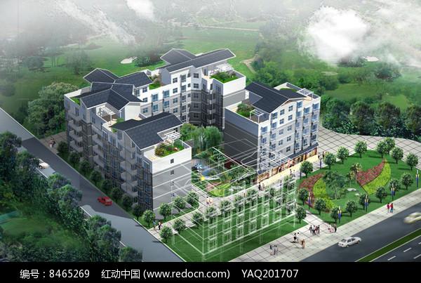 川西民居住宅小区鸟瞰图片