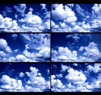 蓝天白云天空动态视频