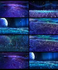 梦幻萤火虫夜空LED视频背景