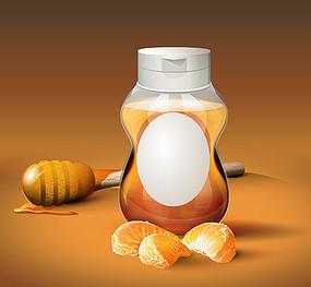 天然蜂蜜橘子包装效果图