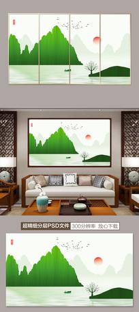 新中式意境山水水墨装饰画