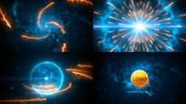 引擎闪电光效科技LOGO视频