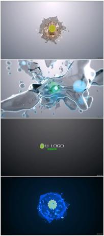 八款液体分溅演绎标识视频
