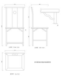 背板开透光靠背椅CAD