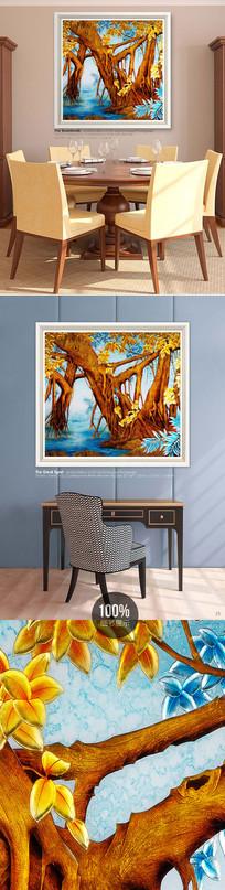 高清风景油画室内装饰画