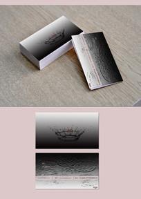 黑白水滴质感高级名片名片