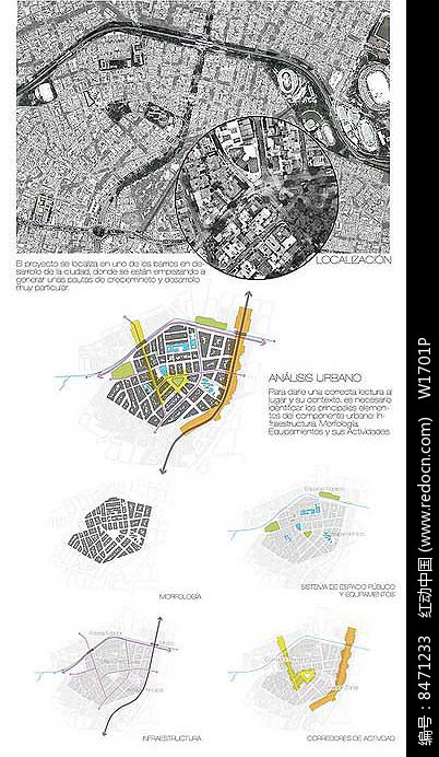 景观分析图排版设计图片