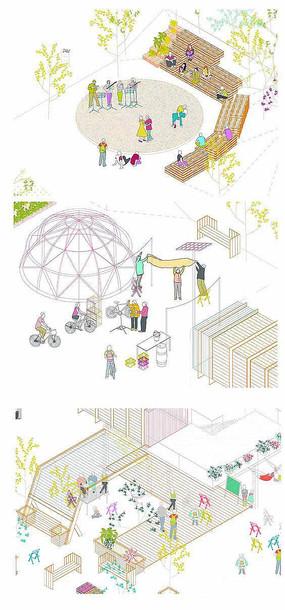 卡通风格景观活动空间设计意向