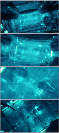 科幻工作室穿梭视觉冲击视频