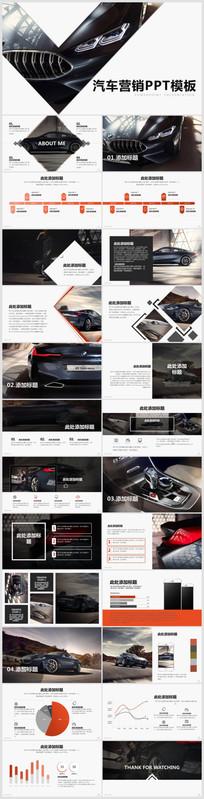 汽车营销商业计划书PPT模板