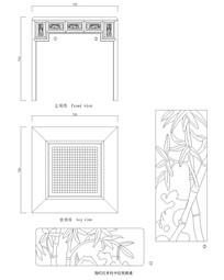 清代红木围棋桌CAD图纸