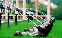 青蛙雕塑意向图