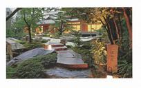 日式酒店庭院意向图