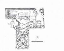 日式民宿酒店花园设计平面