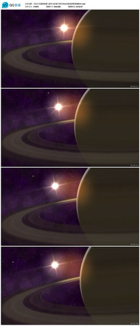 土星环太阳系行星空间运动素材