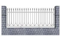 文化石贴面围墙模型