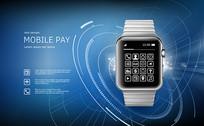 智能手表手机海报