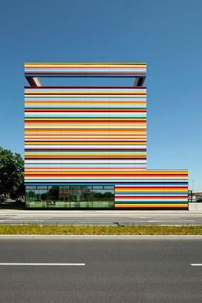 彩色建筑景观
