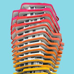 彩色建筑外观