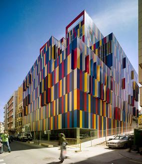 彩色建筑意向图