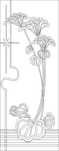 抽象喇叭花雕刻图案