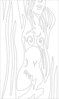 抽象人物雕刻图案