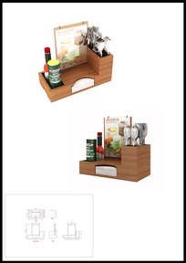 多功能餐具盒3D模型效果图