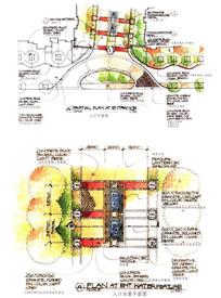 驳岸水景设计手绘图JPG素材下载 手绘素材设计图片