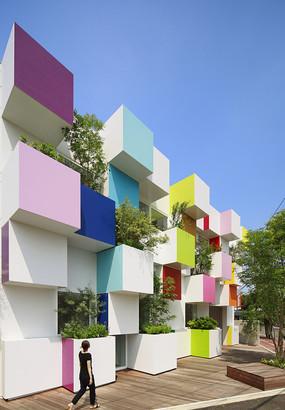 国外彩色建筑景观