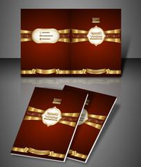金色花纹高贵企业画册封面