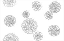 莲花雕刻图案