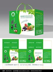 绿色蔬菜水果包装礼盒设计