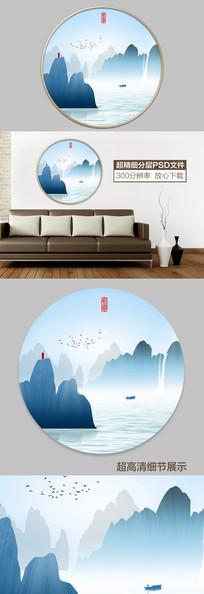现代水墨山水装饰画