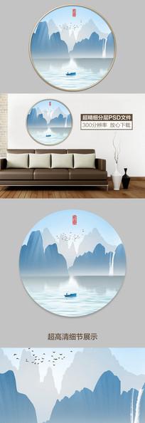 新中式现代山水水墨装饰画