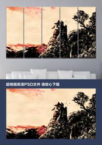 新中式意境水墨山水画装饰画