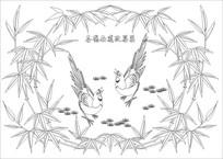 喜鹊南飞雕刻图案