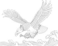鹰雕刻图案
