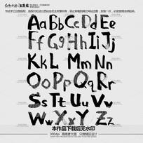 英文字母书法字体下载