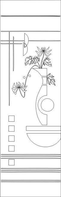 花瓶菊花雕刻图案